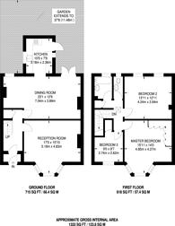 Large floorplan for Broadfield Road, Catford, SE6