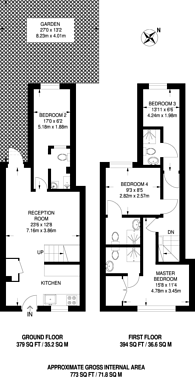 Large floorplan for Claire Place, Isle Of Dogs, E14