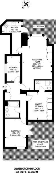 Large floorplan for Belsize Square, Hampstead, NW3