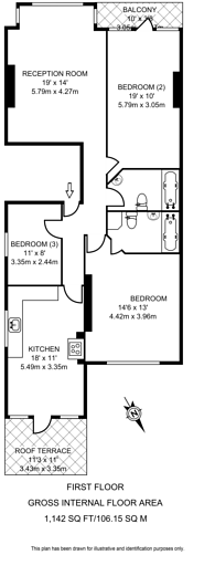 Large floorplan for Haverstock Hill, Hampstead, NW3