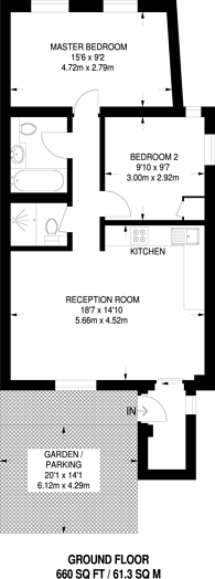 Large floorplan for Englefield Road, De Beauvoir Town, N1
