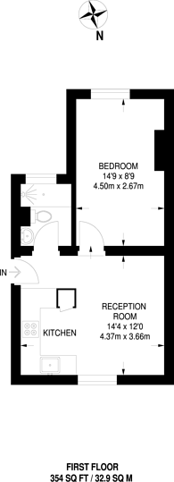 Large floorplan for Crescent Grove, Clapham Common South Side, SW4