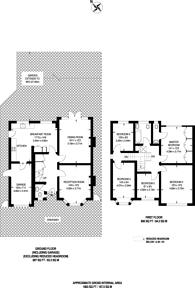 Large floorplan for Northfield Avenue, Pinner, HA5