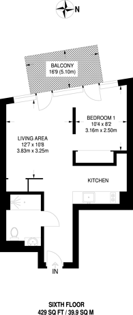 Large floorplan for London City Island, Docklands, E14