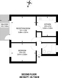 Large floorplan for Rochdale Way, Deptford, SE8