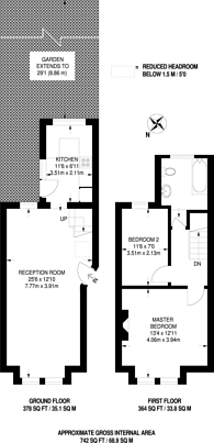 Large floorplan for Woodside Road, South Norwood, SE25