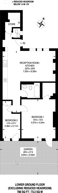 Large floorplan for Birchington Road, West Hampstead, NW6