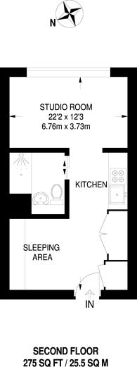 Large floorplan for Clapham Road, Brixton, SW9
