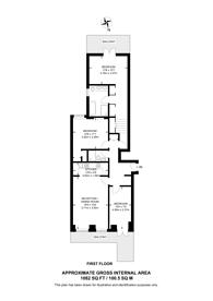 Large floorplan for Ashburn Gardens, South Kensington, SW7