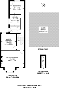 Large floorplan for Dollis Road, Finchley, N3