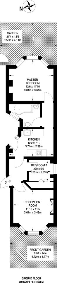 Large floorplan for Coleridge Road, North Finchley, N12