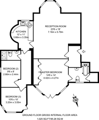 Large floorplan for Hampstead, Hampstead, NW3