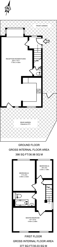 Large floorplan for Winchester Close, Beckton, E6