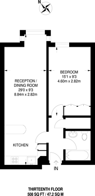 Large floorplan for Bramlands Close, Clapham Junction, SW11
