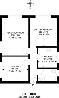Large floorplan for Edgeworth Road, Cockfosters, EN4