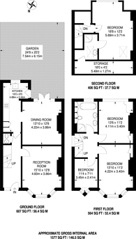 Large floorplan for Coleridge Road, Crouch End, N8