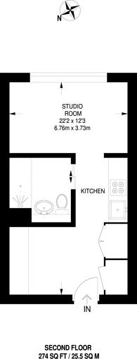 Large floorplan for Clapham Road, Stockwell, SW9