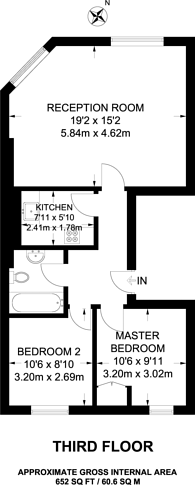 Large floorplan for Stanhope Place, Hyde Park Estate, W2