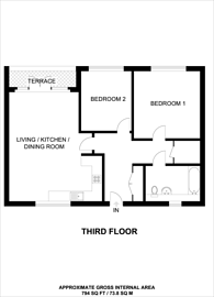 Large floorplan for Parkside Bow, Bow, E3