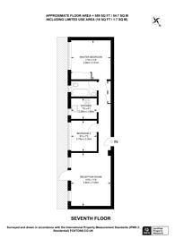 Large floorplan for University Street, Bloomsbury, WC1E