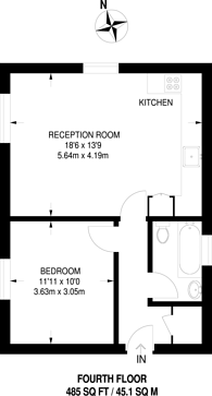 Large floorplan for Walm Lane, Willesden Green, NW2