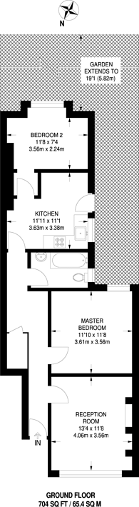 Large floorplan for Bavent Road, Camberwell, SE5