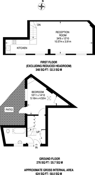 Large floorplan for Virginia Mews, Shoreditch, E2