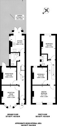 Large floorplan for Donald Road, Croydon, CR0