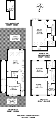 Large floorplan for Waldron Road, Earlsfield, SW18