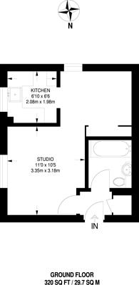 Large floorplan for Glenville Grove, New Cross, SE8