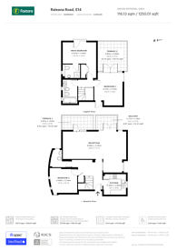 Large floorplan for Raleana Road, Docklands, E14