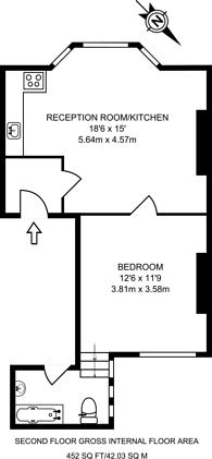 Large floorplan for Edgware Road, Paddington, W2