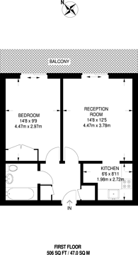Large floorplan for Catalpa Court, Hither Green, SE13