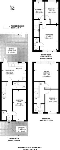 Large floorplan for Biggerstaff Road, Stratford, E15