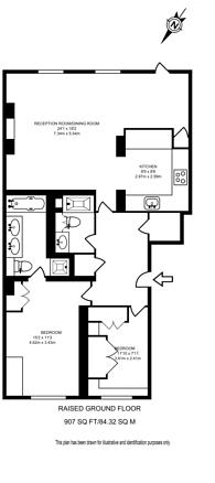 Large floorplan for Drummond Gate, Pimlico, SW1V