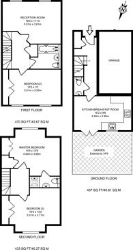 Large floorplan for Oak Tree Drive, Guildford, GU1