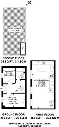 Large floorplan for Elliotts Place, Angel, N1