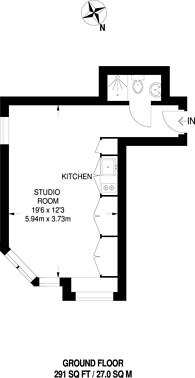 Large floorplan for Sovereign Court, Hounslow, TW3