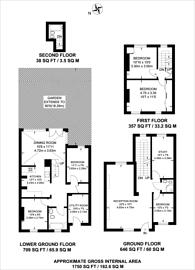 Large floorplan for Ufton Road, De Beauvoir Town, N1
