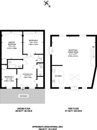 Large floorplan for St Johns Avenue, Harlesden, NW10