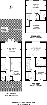 Large floorplan for Woodside Grange Road, Woodside Park, N12