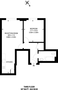 Large floorplan for Osiers Road, Wandsworth, SW18
