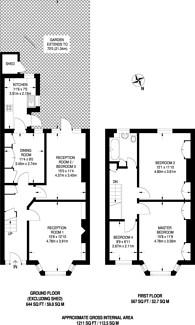 Large floorplan for Dorset Road, North Harrow, HA1