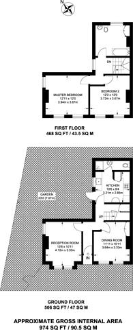 Large floorplan for Burdett Road, Croydon, CR0