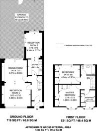 Large floorplan for Callard Avenue, Palmers Green, N13