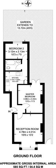 Large floorplan for Thurlestone Road, West Norwood, SE27
