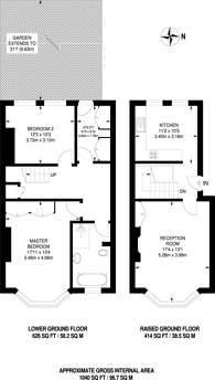 Large floorplan for Petherton Road, Highbury, N5