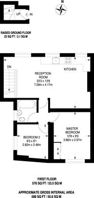 Large floorplan for Mountgrove Road, Islington, N5