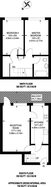Large floorplan for Alfred Road, Royal Oak, W2