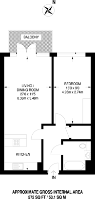 Large floorplan for The Vibe, Dalston, Dalston, E8